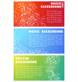 Three music banners vector image vector image
