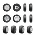 tires wheels realistic set vector image vector image