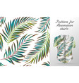 tropical aloha pattern vector image