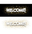 Welcome paper banners vector image