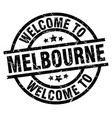 welcome to melbourne black stamp vector image vector image