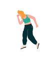 young woman dancing female dancer character vector image
