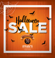 hallowen sale with spider and holiday elements on vector image