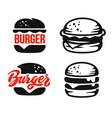 burger logo emblem vector image