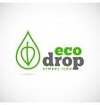 Eco Drop Concept Symbol Icon or Logo Template vector image