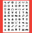 63 top icons vector image vector image