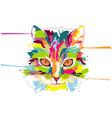 abstract creative cat cartoon design vector image vector image