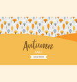 autumn sale background banner with leaves for vector image vector image