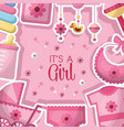 baby shower celebration vector image vector image