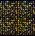 beautiful seamless pattern with gold glittering vector image vector image