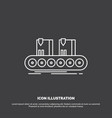 belt box conveyor factory line icon line symbol vector image