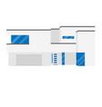 big modern beautiful house vector image vector image