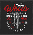bikers club vintage logotype vector image vector image
