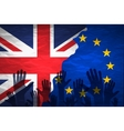 Brexit - Detail of Separated Silky Flags of vector image vector image