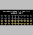 car logo set in simple line graphic design vector image