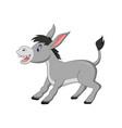cartoon happy donkey isolated on white background vector image