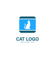 cat logo design modern cat logo template isolated vector image