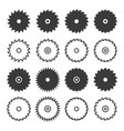 circular saw blade icon set vector image