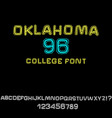 classic college font vintage grunge font in vector image