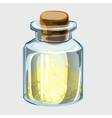 Closed bottle with yellow powder vector image