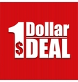 Dollar deal poster on a red background vector image vector image