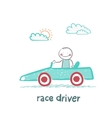 driver rides in the car vector image vector image