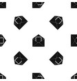 envelope with card pattern seamless black vector image vector image
