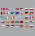 european flags eu waving flag design vector image