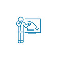 explanation of the recession linear icon concept vector image vector image