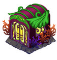 fairy house with ornament in form of vector image vector image