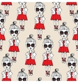 fashion girls pattern vector image