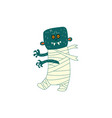 flat halloween walking zombie vector image