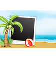 Frame with beach background vector image vector image