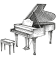 grand piano and stool for a musician vector image