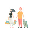 happy family travelling father mother and son vector image vector image