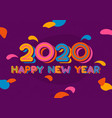 happy new year 2020 typography design vector image vector image