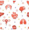 human iinternal organs seamless pattern can be vector image