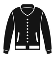 Jacket icon simple style vector image vector image