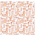 kitchenware and words on white background vector image vector image