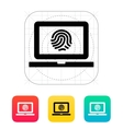 Laptop fingerprint icon vector image vector image