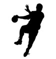 male handball player vector image vector image