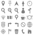 Map icons on white background vector image vector image