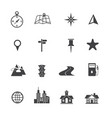 map icons set navigation vector image vector image