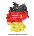 Map of Germany - Bundesrepublik Deutschland vector image