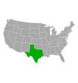 map texas in usa vector image vector image