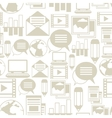 Media and communication seamless pattern with blog vector image