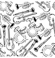 Musical instruments retro seamless pattern vector image vector image