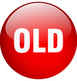old red round gel isolated push button vector image vector image