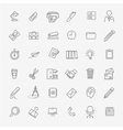 Outline web icon set - Office vector image