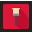 Paint brush icon flat style vector image